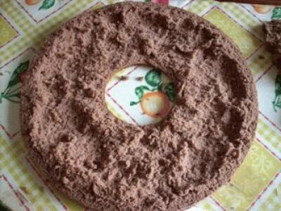 Ciambella ripiena di gelato