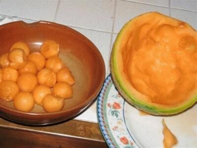 Frutta nel gelato