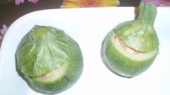 Zucchine rotonde ripiene