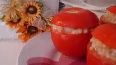 Pomodori estivi ripieni di riso