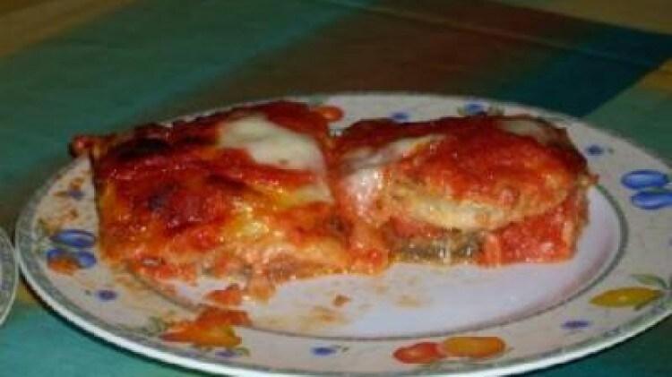 Pizza di melanzane