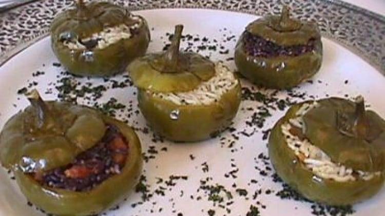 Peperoni in settequarti (ripieni di riso)