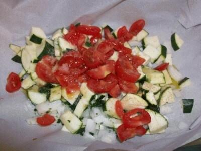 Cappesante con gamberetti alle verdure