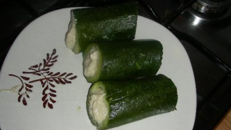 Zucchine ripiene di tonno e robiola