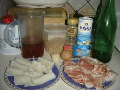 Baccalà al forno con pancetta