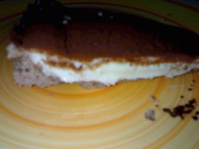 Torta fredda con crema pasticcera e philadelphia