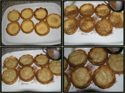 Tartellette di cocco con crema alla vaniglia