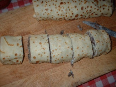Rose al gorgonzola e funghi con granella di pistacchi