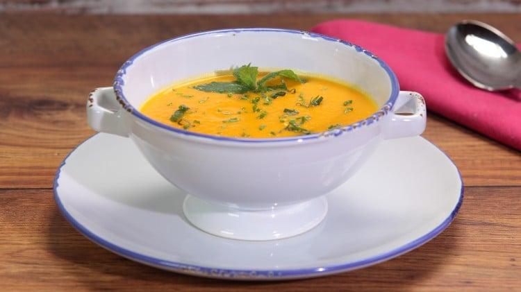 Zuppa di zucca e zenzero