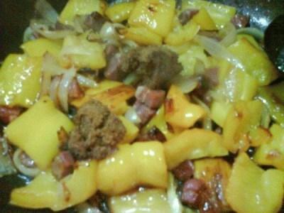 Bomba di patate ai peperoni