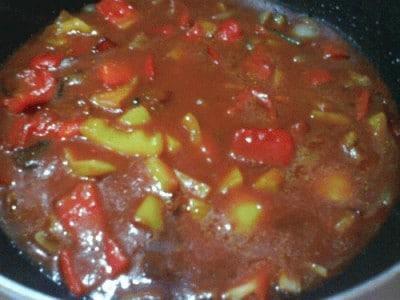Paccheri in crema di peperoni