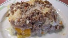 Lasagne al ragù bianco con peperoni