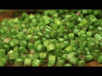 Risotto agli asparagi e salmone affumicato