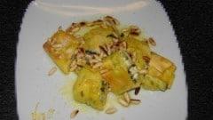 Rotoli di pasta fresca con zucchine e robiola