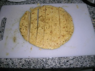 Parmesan tortilla crisps