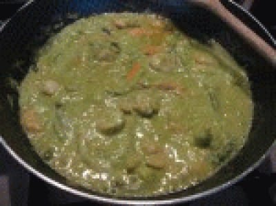 Bavette con crema di asparagi mazzancolle e capesante