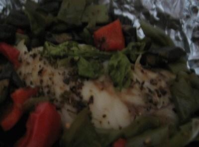 Persico e verdure al cartoccio