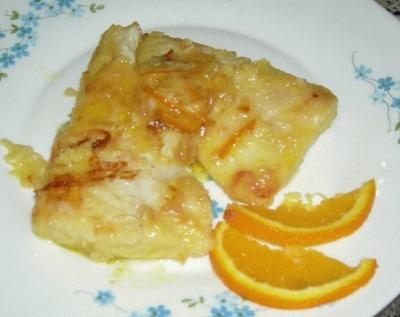 Filetti di persico all'arancia