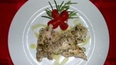 Filetti di pesce persico alle erbe aromatiche