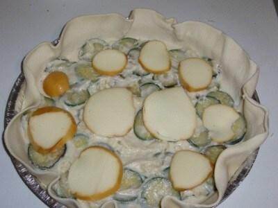 Torta salata zucchine e scamorza affumicata