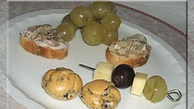 Spiedini d'uva