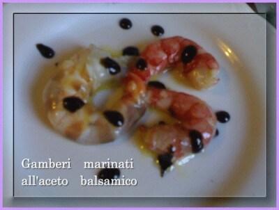 Gamberi marinati all'aceto balsamico