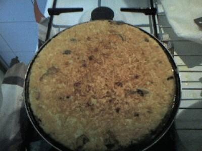 Frittata di riso ai funghi