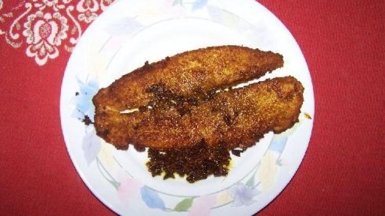 Pesce indiano fritto