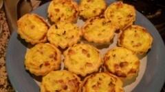 Mini tortino con porri e pancetta