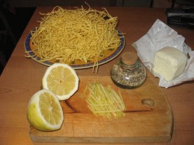 Taglierini al limone con magret de canard