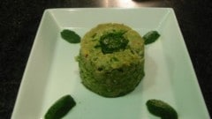 Timballo verde di pasta al ragù di coniglio