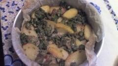 Gratin di patate con asparagi e stracchino