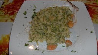 Tagliolini con cappesante e zucchini