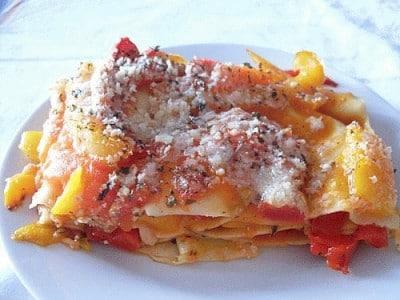 Lasagne ai peperoni light