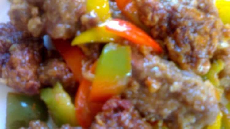 Manzo croccante in salsa piccante