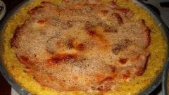 Torta di riso ai porcini e tacchino affumicato