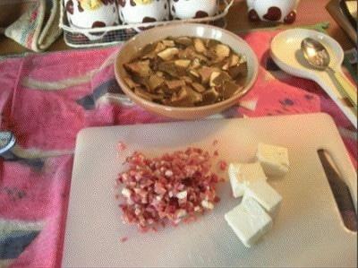 Risotto allo speck e funghi porcini mantecato al taleggio