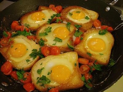 Uova fritte nel pane