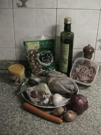 Fagianella con funghi e olive