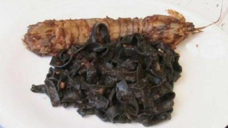 Tagliatelle nere al sugo di cicale