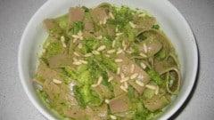 Lasagne di farina di castagne al pesto
