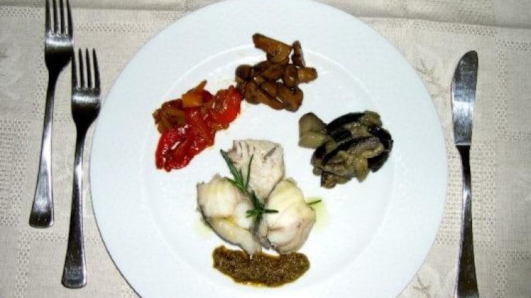 Coda di rospo al vapore con verdure