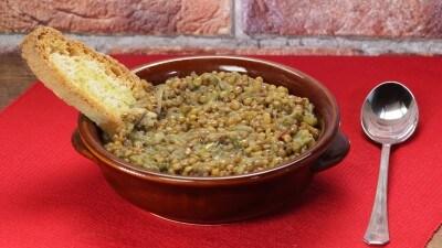 Zuppa di scarola e lenticchie