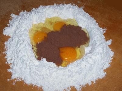 Tagliatelle al cacao con sugo di noci