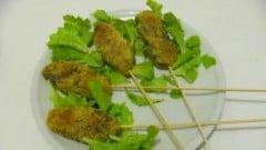 Spiedini di patate,  verza e anacardi