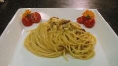 Spaghetti alla cicala di mare con pomodorini secchi e semi di finocchio