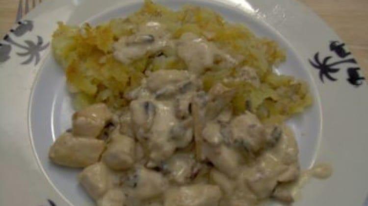 Pollo alla senape e funghi