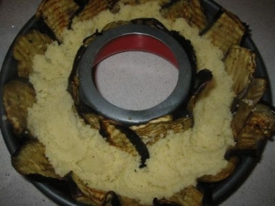 Corona di melanzane e couscous