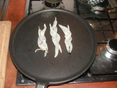 Millefoglie di semolino nero alle seppie