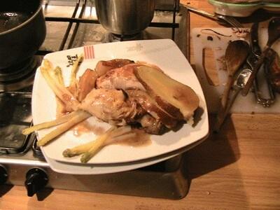 Pollo alle pere